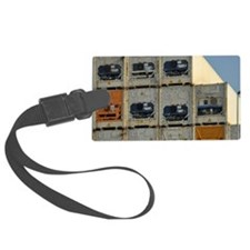 Stacked up containers in port Luggage Tag