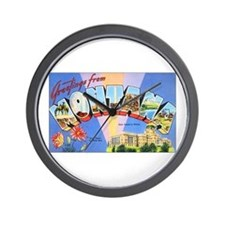 Montana Greetings Wall Clock
