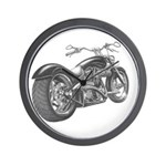 Custom Motorcycle, Hole shot Wall Clock