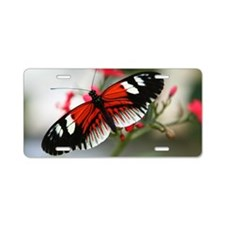 Red and black butterfly Aluminum License Plate