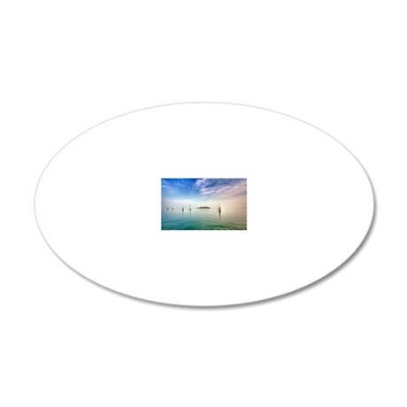 View to island in Laguna, Ve 20x12 Oval Wall Decal