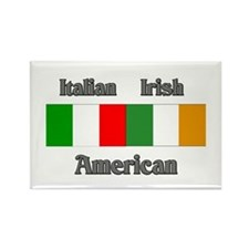 Italian Irish American Rectangle Magnet