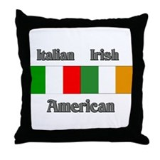 Italian Irish American Throw Pillow