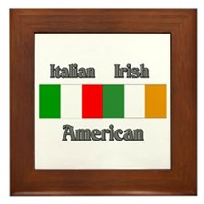 Italian Irish American Framed Tile