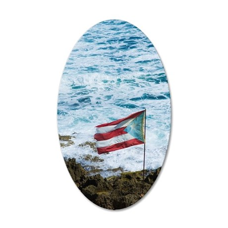 Puerto Rico, Old San Juan, f 35x21 Oval Wall Decal