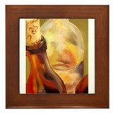 amber wines Framed Tile