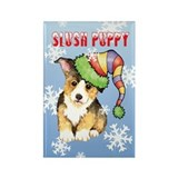 Holiday Corgi Rectangle Magnet