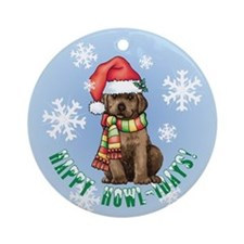 Holiday Labrador Ornament (Round)