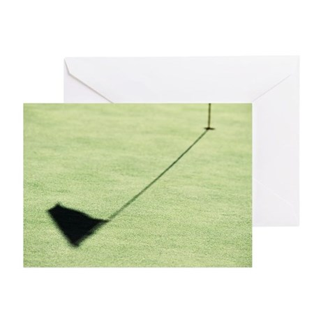 Hole on golf course (foc Greeting Cards (Pk of 10)