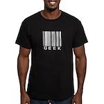 geek barcode2 white Men's Fitted T-Shirt (dark)