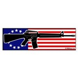 AR-15 and flag