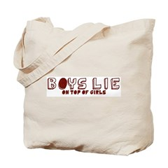 Boys Lie On Top Tote Bag