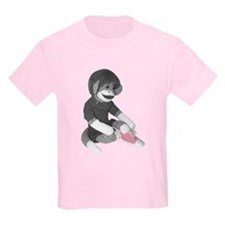 Pink Ribbon Cherry Kids T-Shirt