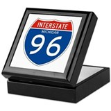 Interstate 96 - MI Keepsake Box