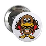 "Funny Little Turkey 2.25"" Button (10 pack)"