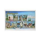 New Hampshire Greetings Rectangle Magnet (10 pack)