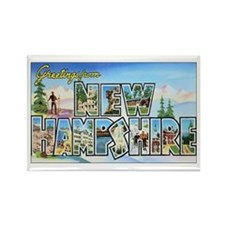 New Hampshire Greetings Rectangle Magnet