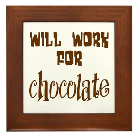 Work for Chocolate Framed Tile