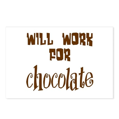 Work for Chocolate Postcards (Package of 8)