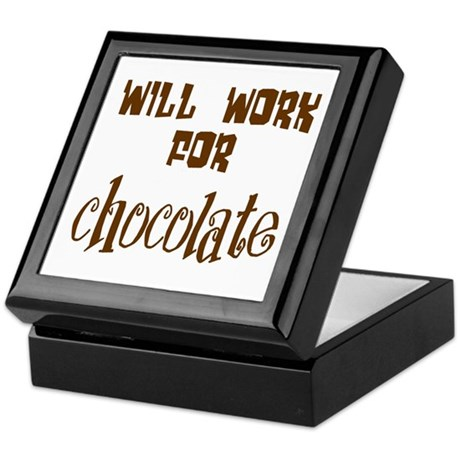 Work for Chocolate Keepsake Box