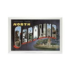 North Carolina Greetings Rectangle Magnet