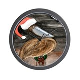 Santa Pelican Wall Clock