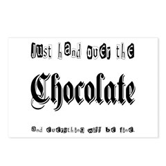 Hand Over the Chocolate Postcards (Package of 8)