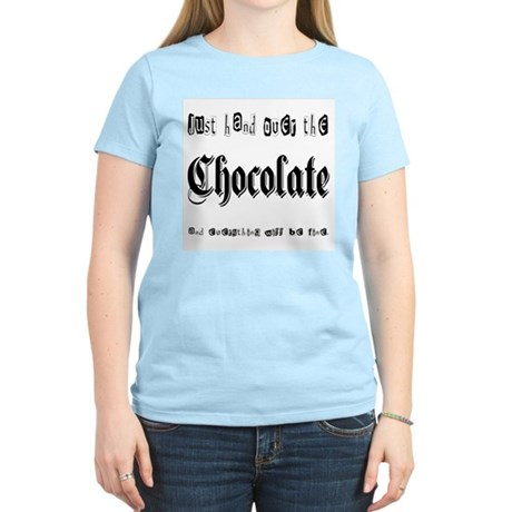 Hand Over the Chocolate Women's Pink T-Shirt