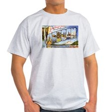 Oregon Greetings (Front) Ash Grey T-Shirt