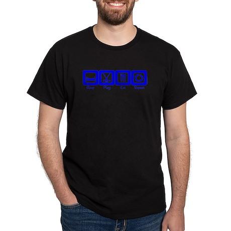 Sleep- Play- Eat- Repeat Black T-Shirt