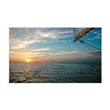 Sunrise from  Sailboat in Key Wes Wall Decal