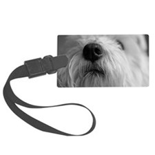 West highland terrier's nose Luggage Tag