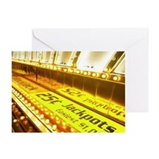 Sign promoting slot mach Greeting Cards (Pk of 10)