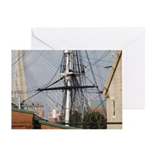 USS Constitution masts, Boston, Mass Greeting Card