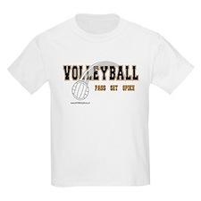 Volleyball: Pass Set Spike Kids T-Shirt