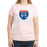 Interstate 95 - DE Women's Pink T-Shirt