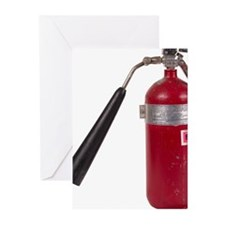 Red Fire Extinguisher Greeting Cards (Pk of 10)