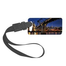 Millennium bridge Crossing Small Luggage Tag