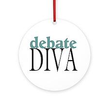 Debate Diva Ornament (Round)
