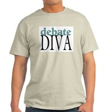 Debate Diva Ash Grey T-Shirt