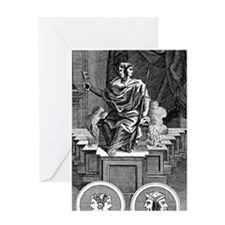 Two-faced Roman god Janus Greeting Card