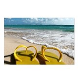Flip flops in Punta Cana Postcards (Package of 8)