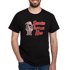 Santa Loves Ho Ho Hos T-Shirt