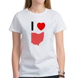 Cute I heart ohio Tee