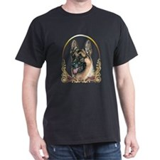 German Shepherd Christmas Holiday Dark Shirts