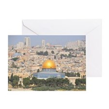 Jerusalem and Dome of Rock from moun Greeting Card