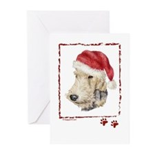 Christmas Fox Terrier Greeting Cards (Pk of 10