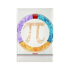 Pi Circle 3.14 Rectangle Magnet