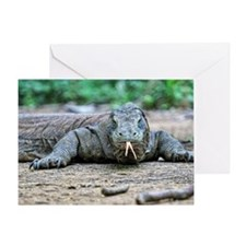 Komodo dragon with its tongue out. Greeting Card