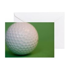 A golf ball, close up Greeting Cards (Pk of 20)